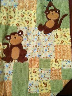 Just hanging around monkeys baby quilt.
