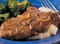Crockpot Cubed Steaks with Gravy Recipe | Just A Pinch Recipes