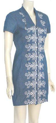 Vintage 80s Denim Mini Dress