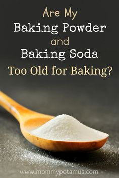 How To Test Baking Soda For Freshness...Add a few drops of vinegar or lemon juice to a small amount of baking soda. If it bubbles up it's still good...  How To Test Baking Powder For Freshness ...mix 1 teaspoon of backing powder with 1/3 cup of water. If it fizzes you're in business.