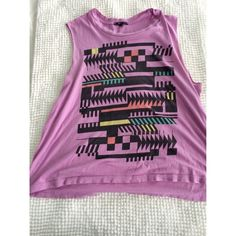 Truly Madly Deeply Geo Print top Geo print muscle shirt. Can fit anyone that wears a small, medium or large! Gently used! Urban Outfitters Tops