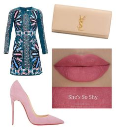 """Mixture of pink"" by diversitychick on Polyvore featuring Peter Pilotto, Christian Louboutin, Yves Saint Laurent and She's So"