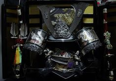 #Japan Japanesekabuto (samurai helmet)Kabuto is displayed during kodomo no hi (Children's Day) to express hope that each boy in the family will grow up healthy and strong.