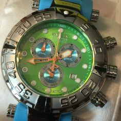 "Invicta Reserve 47mm Subaqua Noma I ""Puppy Edition"" Swiss Quartz Silicone Strap Watch Model Number 47mm Blue: 16723"