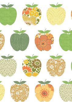 'Appel oranje' XL wall prints by Inke Heiland
