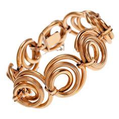 """1940's Retro """"Spiral"""" Rose Gold Link, I love rose gold!"""