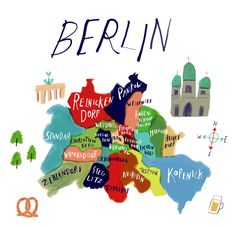 sarah green illustration - Berlin map