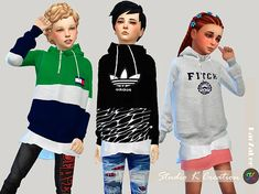 The Sims 4 Giruto 46 hoodie Sweater for child Sims 4 Toddler Clothes, Sims 4 Cc Kids Clothing, Kids Clothes Boys, Sims 4 Cc Skin, Sims Cc, Sims Mods, Pelo Sims, Sims 4 Children, Sims4 Clothes