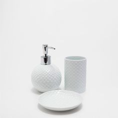 SCALY GLASS BATHROOM SET
