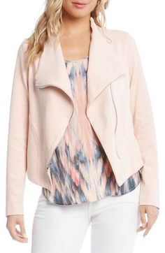 Karen Kane Stretch Knit Moto Jacket