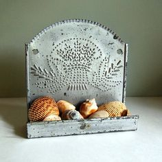 Vintage punched tin