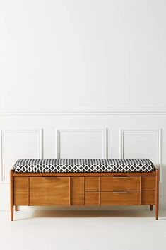 Kursi Bench Cushion by Anthropologie in White Size: All, Benches + Ottomans Unique Living Room Furniture, New Furniture, Dining Room Furniture, Room Chairs, Furniture Making, Furniture Design, Hallway Furniture, Furniture Projects, Dining Rooms