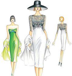 F3153 | Marfy Dress | Evening / Prom | Kwik Sew Patterns