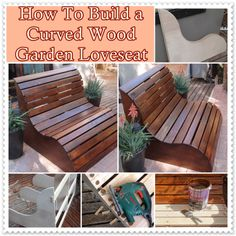 The Homestead Survival | How To Build a Curved Wood Garden Loveseat | DIY Project    http://thehomesteadsurvival.com