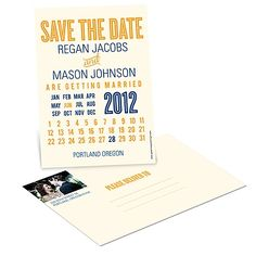 Creative Calendar -- Wedding Save the Date Postcards