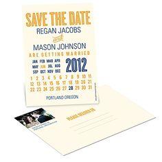 Wedding Save the Date Postcards -- Creative Calendar