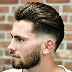 Brush Back with Low Fade