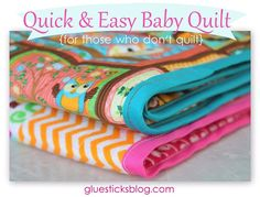 3.14  Quick and Easy Baby Quilt | Gluesticks