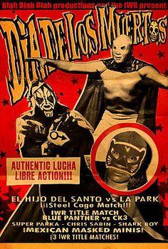 IDIA DE LOS MUERTOS DVD WRESTLING Mexican luchadores LUCHA LIBRE