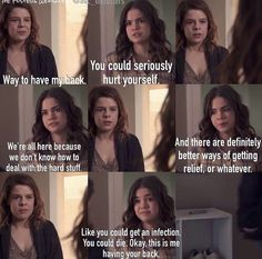 I love how Callie is there for everyone.