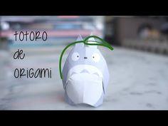 Origami Chibi-Totoro with leaf (Tutorial) - Mariano Zavala B. 折り紙 トトロ оригами учебник - YouTube