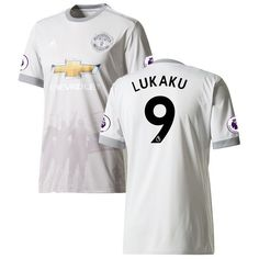 Romelu Lukaku Manchester United adidas 2017/18 Third Replica Patch Jersey - Gray - $119.99