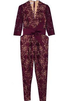 Stella McCartney Camelia guipure lace jumpsuit   THE OUTNET