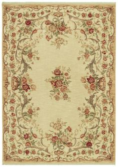 Pinned From RugLots   Shaw // Stonegate Queen Victoria Garden Beige Floral Shaw  Rug (