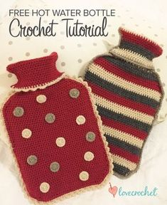 Crochet club: free matching hot water bottle cozies by Kate Eastwood on LoveCrochet