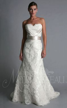 a-line dress, bridal gowns, couture, sweetheart neckline, , dress, dresses, wedding gowns, a-line, sweetheart, natural waist, strapless, lace, silk