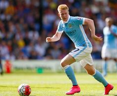 Manchester City's Kevin De Bruyne enjoyed a productive debut against Crystal Palace. Joe Mercer, City Of Manchester Stadium, Zen, Young Lad, Blue City, English Premier League, Crystal Palace, Sport Football, Soccer Players