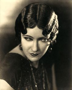 Portrait of Gloria Swason take in 1921. Swanson created a legendary character based on those of the silent period for which she was top star, Norma Desmond in Sunset Boulevard (1950).
