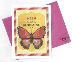 Be Always Blooming Greeting Card  Blank Inside by beautifullygreen