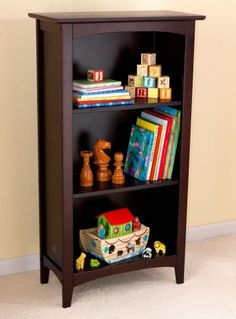 The Kidkraft Avalon Bookshelf has a classic design that would make a great addition to any room of the house. This is a perfect shelf for displaying books, toys, picture frames and more. - Three gener