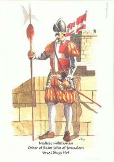 Maltese militiaman during the Great Siege of Malta 1565