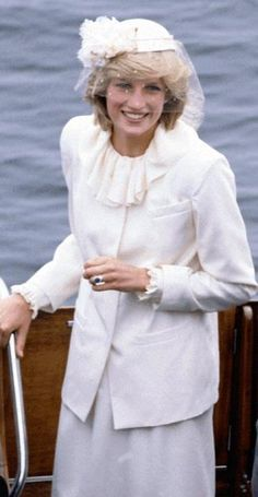 HRH Princess Diana  - I wore a similar suit and hat to an 80's wedding.  What was I thinking??