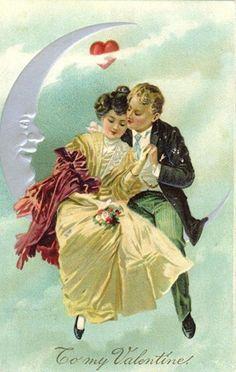 <3 To my Valentine - free vintage Valentine clip art