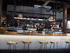 Open kitchen, bottle display, polished shabby chic Nomad   Surry Hills — #ARTACOeats