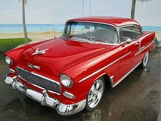 Old Chevy Belair Hardtop Chevrolet Bel Air, 1955 Chevy Bel Air, 1955 Chevrolet, Chevrolet Impala, Ford 2000, Vintage Cars, Antique Cars, American Classic Cars, Classy Cars