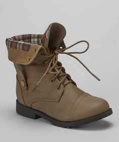 Take a look at this Cognac Sun Fold-Over Boot by Lucky Top on #zulily today!