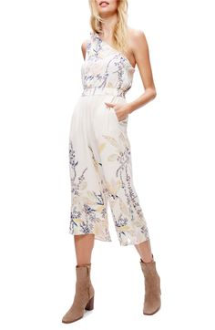 $128 Main Image - Free People Island Time One-Shoulder Romper