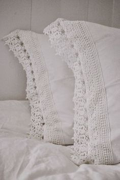 Antique white linens