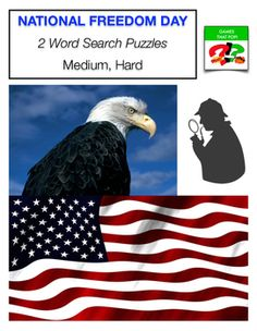 President's Day word search. Two  Word Search puzzles for kids or adults. Word Search puzzles for National Freedom Day or Black History Month. Medium word search for elementary, and Hard word search for Junior High and High School. Adults would enjoy the hard word search level as well. Other word search puzzles! Martin Luther King Word Search Puzzles. Winter Word Search Puzzles - Mozart Word Search Puzzles - Football Word Search Puzzles -Epiphany Word Search Puzzles - New Year's more