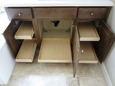 Bathroom Cabinet Pull Out Shelves - traditional - bathroom storage - phoenix - by Slide Out Shelves LLC