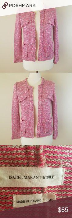 Isabel marant ariana knit jacket M Isabel Marant Etoile Ariana knitted cotton-blend jacket red MSRP $220 US M EU40 Isabel Marant Jackets & Coats Blazers