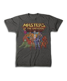 Love this Heather Charcoal Masters of the Universe Tee - Men's Regular on #zulily! #zulilyfinds