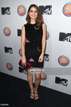 Shelley Hennig arrives at MTV's 'Teen Wolf' and 'Sweet/Vicious' Premiere Event on November 14, 2016 in Los Angeles, California.