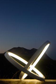 Sunset macro  #sunset #macro# infinity #lamp #sculpture #zoom #interior #led #circle #stars #modern #minimal #white