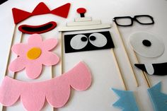 Party Props. Photo Booth Props. Wedding Photo Props. Photo Props. Mustache on a Stick. Props on a Stick - The Gab Pack Maro Kit