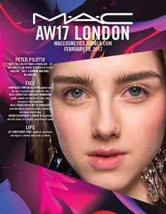 Backstage at Peter Pilotto, London Fashion Week. Get the look with Mineralize Timecheck Lotion applied with MAC Studio Face and Body Foundation gently applied over the face to even, tone and perfect the complexion. Runway Makeup, Beauty Makeup, Makeup Inspo, Makeup Inspiration, Body Foundation, Peter Pilotto, Aw17, London Fashion, Face And Body